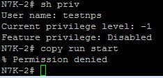 Cisco Nexus Network Operator privilege
