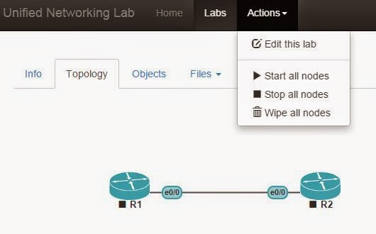 Starting nodes in UNeLab