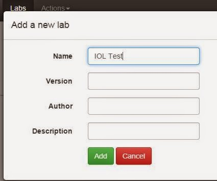 Adding a node in UNetLab