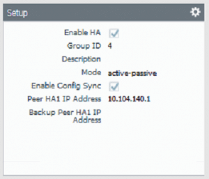 Palo Alto High Availability firewall 2 setup